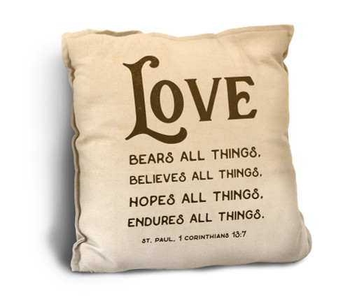 Love Bears All Things Rustic Pillow