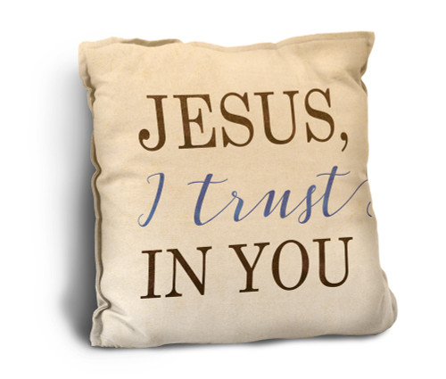 Jesus, I Trust in You Rustic Pillow