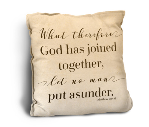What God Has Joined Rustic Pillow