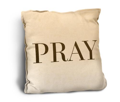 Pray Rustic Pillow