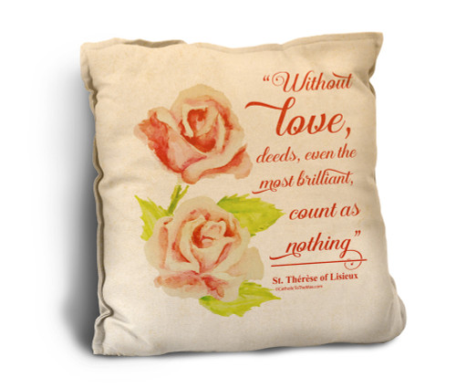 Without Love Rustic Pillow