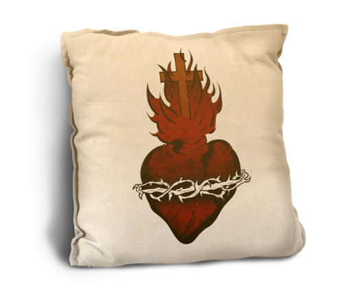 Sacred Heart Rustic Pillow