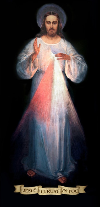 Full Sized Divine Mercy Vilnius Original Indoor Outdoor Aluminum Print