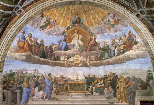 Disputation of the Eucharist Indoor Outdoor Aluminum Print