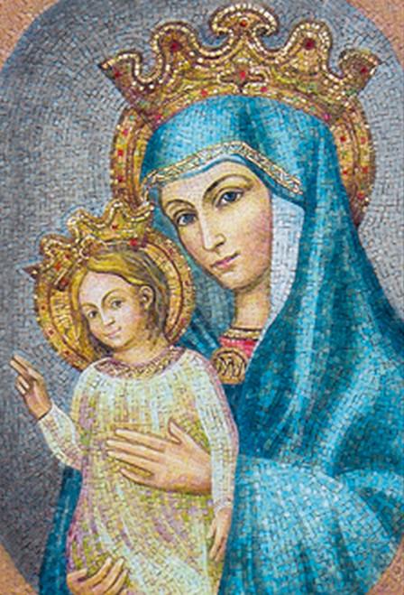 Mater Ecclesiae St. Peter's Square Mosaic Indoor Outdoor Aluminum Print