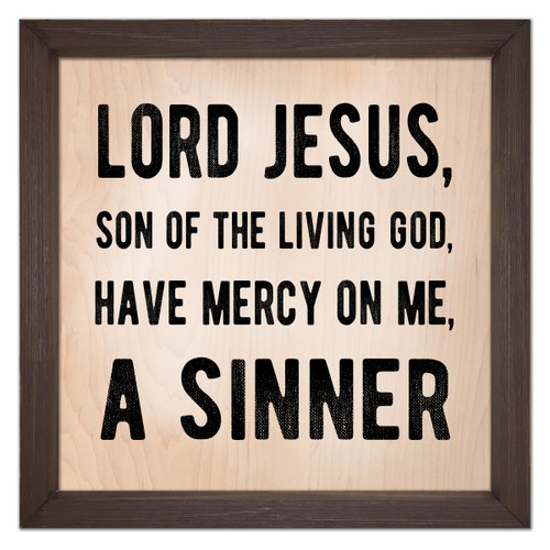 Sinner's Prayer Rustic Framed Quote