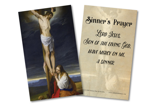 Sinner's Prayer Holy Card