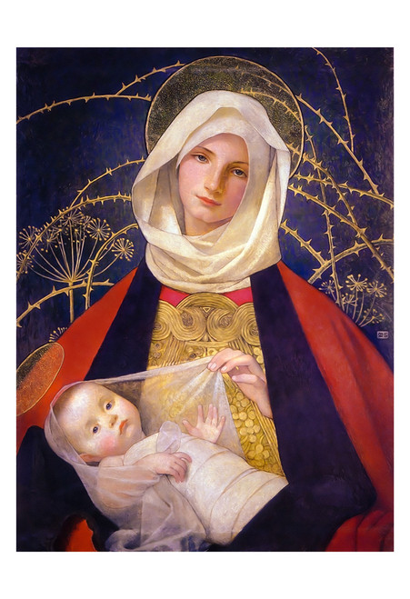Madonna and Child by Marianne Stokes Print