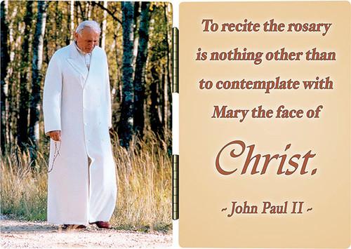 Pope John Paul II Walking Rosary Diptych