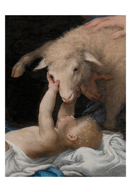 Adoration of the Shepherds (Detail) by Lorenzo Lotto Print