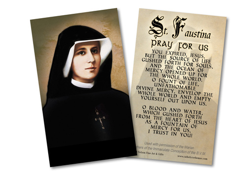 Divine Mercy Chaplet Opening Prayer Holy Card