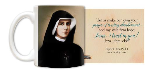 "Saint Faustina ""Jezu, ufam tobie"" Mug"