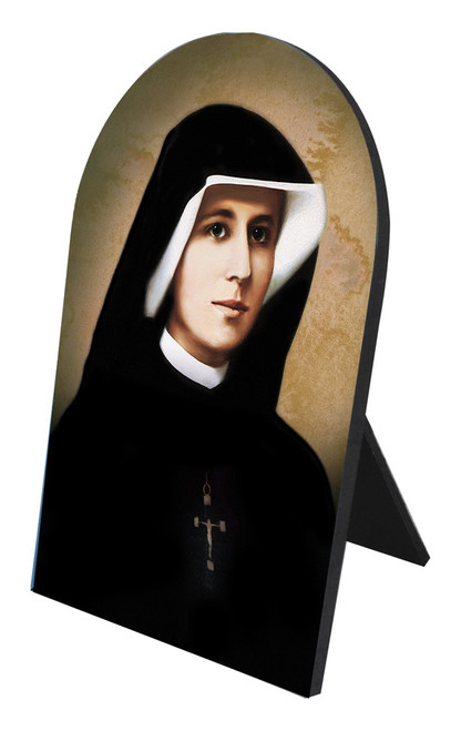 Saint Faustina Arched Desk Plaque
