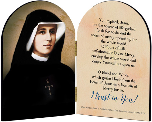 Saint Faustina Arched Diptych