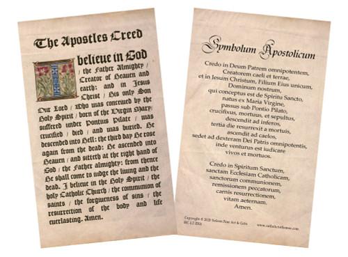 Latin-English Apostle's Creed Holy Card