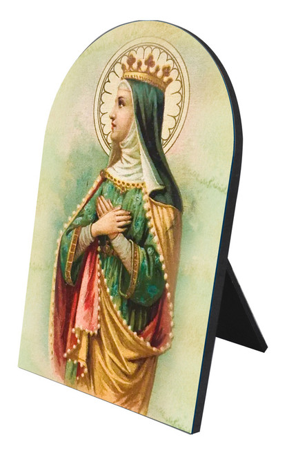 Saint Matilda Arched Desk Plaque