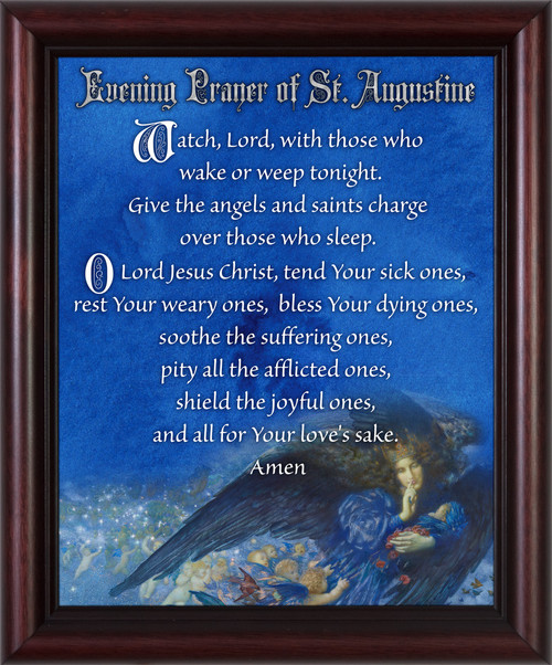 Evening Prayer of St. Augustine - Cherry Framed Art