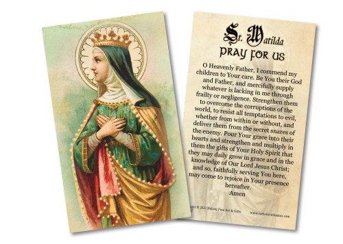 Parent's Prayer for Children St. Matilda Holy Card