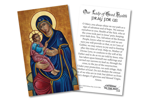 FREE Our Lady of Good Health Holy Cards (pack of 50)