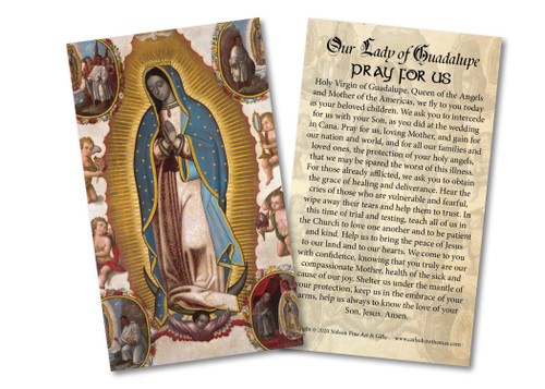 Virgin of Guadalupe Holy Card