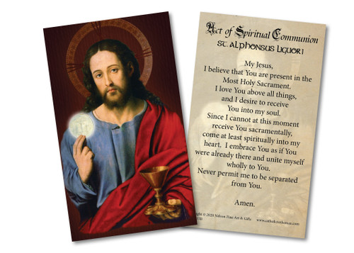 Spiritual Communion Holy Card