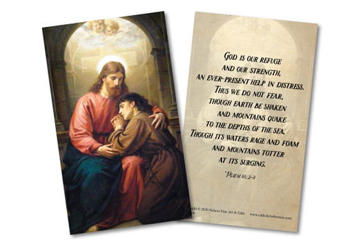 """God is Our Refuge"" Holy Card"