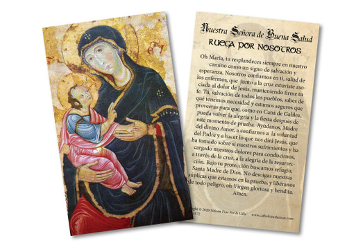 Spanish Antique Our Lady of Good Health Holy Card