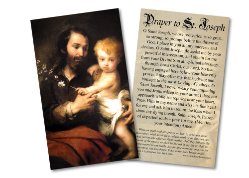 Novena to St. Joseph Holy Card