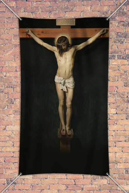 The Crucifixion by Velazquez Outdoor Vinyl Banner