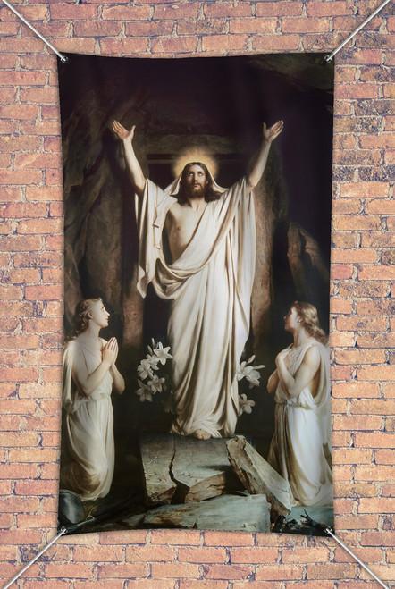 The Resurrection by Carl Bloch Outdoor Vinyl Banner