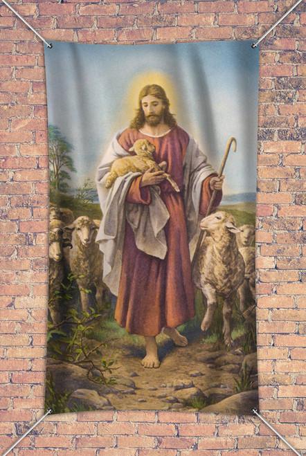 Vintage Good Shepherd Outdoor Vinyl Banner