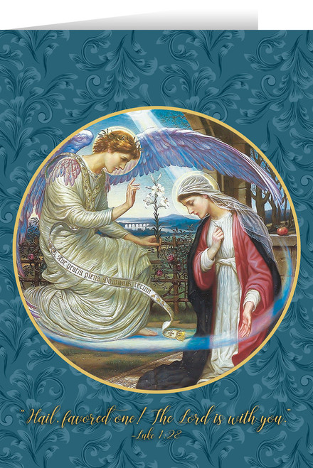 The Annunciation by Edward A Fellowes-Prynne Greeting Card