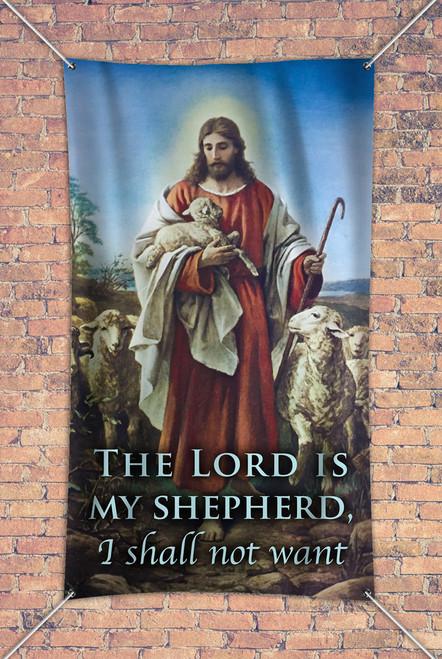 """""""The Lord is my Shepherd"""" Outdoor Vinyl Banner"""