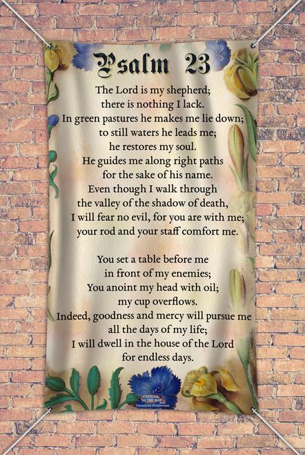 Psalm 23 Outdoor Vinyl Banner