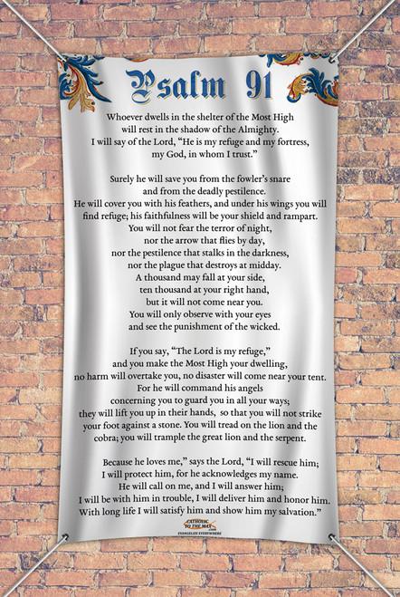 Psalm 91 Outdoor Vinyl Banner