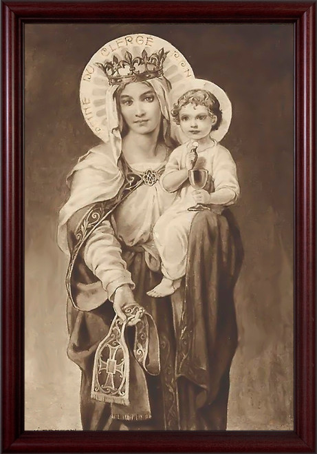 Mother of the Clergy - Cherry Framed Art