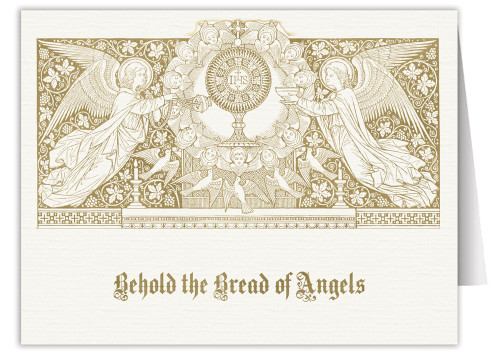 Bread of Angels Woodcut Note Card