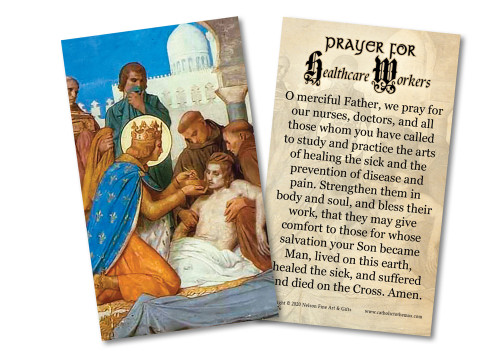 Prayer for Healthcare Workers Holy Card