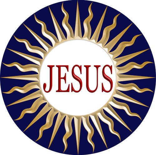 Jesus Emblem Indoor Outdoor Aluminum Print
