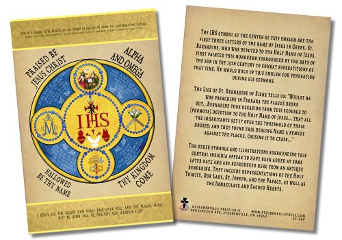 Holy Name Emblem Faith Explained Card
