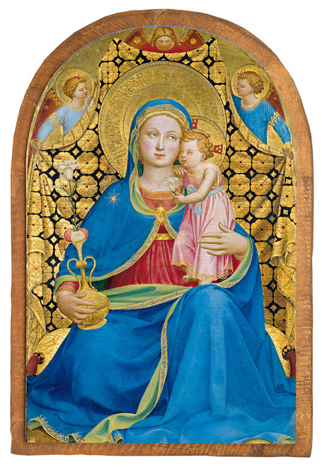 Virgin of Humility by Fra Angelico Cloister Collection Catholic Icon Plaque
