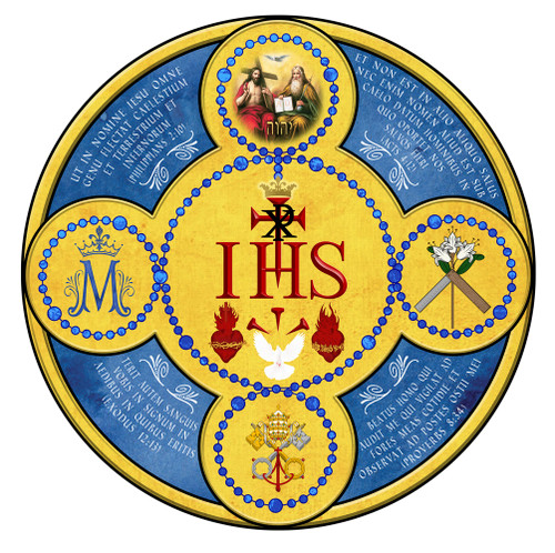 Latin Holy Name Emblem Decal