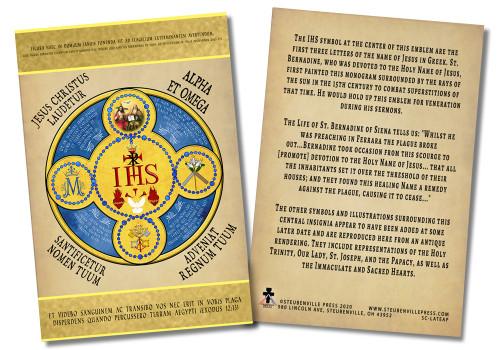 Latin Holy Name Emblem Faith Explained Card