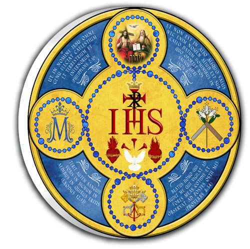 Latin Holy Name Emblem Outdoor Plaque