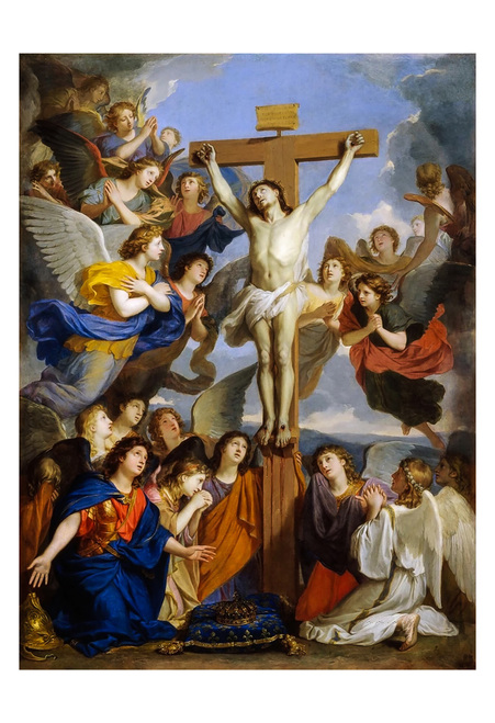 Crucifixion with Angels by Charles le Brun Print