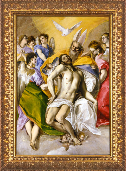 The Trinity by El Greco - Gold Framed Art