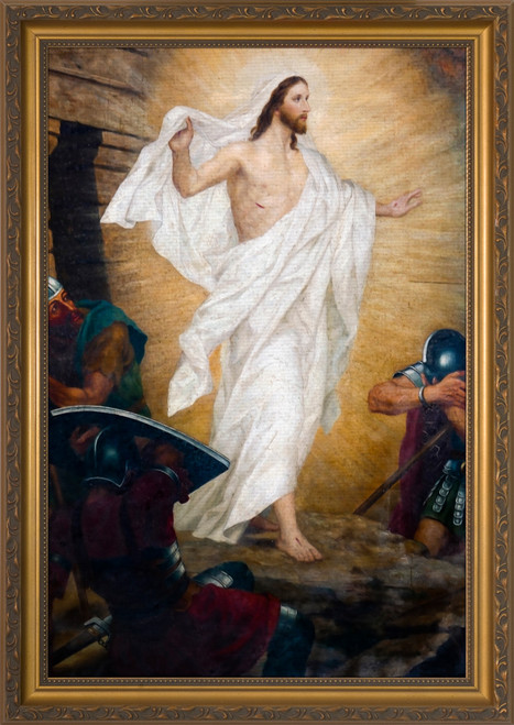 The Resurrection - Gold Framed Art