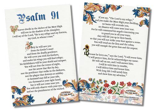 Psalm 91 4x6 Prayer Card