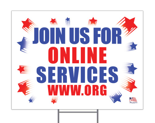 Join us for Online Services Custom Yard Sign