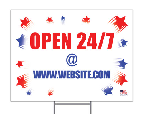 Open 24/7 Custom Yard Sign